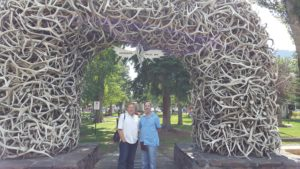 Will & David in Jackson Hole under Horns