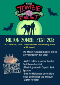 Poster of the Milton Zombie Fest 2018