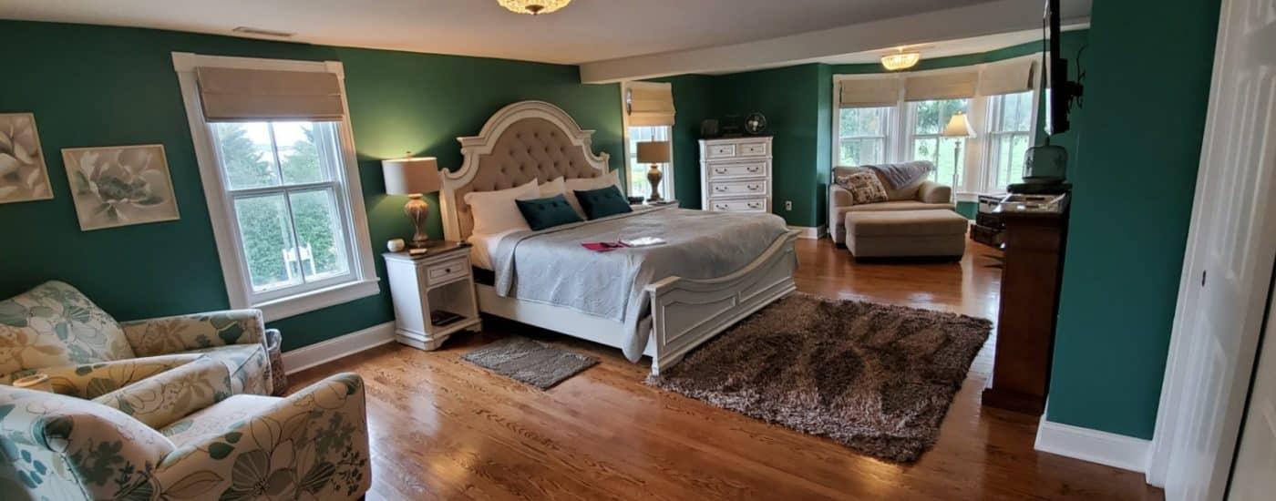 medium hardwood floors white furniture