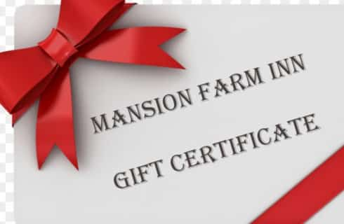 Gift certificate Red bow