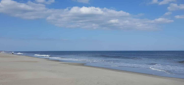 beach and sand on a sunny day