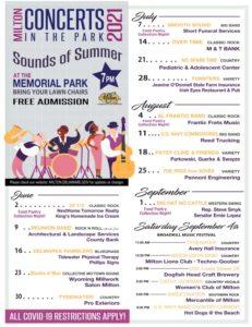 poster of concerts in the park milton de