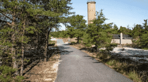 rock bike trail thru the woods