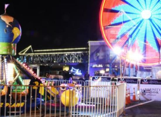 rides at the winter fest