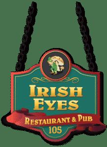 Irish Eyes Logo green and yellow