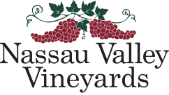 Nassau Valley Logo, red grapes with leives