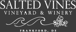 salted vines white on black logo