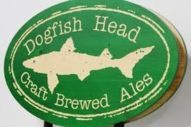 Green Dogfish Head sign with a shark in the center